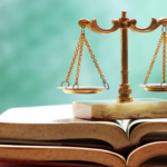 law books and scales of justice